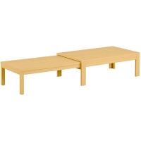 筑波産商 国産 伸長リビングテーブル NA 幅1200〜2255×奥行600×高さ400/370mm 1台 (取寄品)