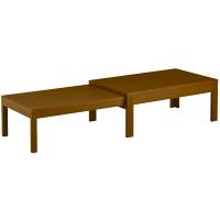 筑波産商 国産 伸長リビングテーブル WN 幅1200〜2255×奥行600×高さ400/370mm 1台 (取寄品)