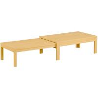 筑波産商 国産 伸長リビングテーブル NA 幅1350〜2540×奥行800×高さ400/370mm 1台 (取寄品)