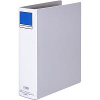 アスクル パイプ式ファイル片開き ベーシックカラー(2穴) A4タテ とじ厚60mm背幅76mm グレー 10冊
