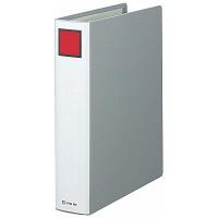 キングファイル スーパードッチ A4タテ とじ厚50mm 10冊 グレー キングジム 両開きパイプファイル 1475クレ