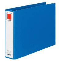 コクヨ チューブファイル Mタイプ A4 横 50mmとじ 2穴 青 1セット(16冊)