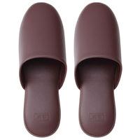 テンダイ ベーシックスリッパ 前かぶり 紳士サイズ(25.5〜27.5cm) ダークブラウン 1足