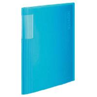 コクヨ クリヤーブック<ノビータ> A4縦固定式40枚ポケット ライトブルー 1セット(20冊)