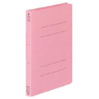 コクヨ フラットファイルV樹脂製とじ具 B6縦 15mmとじ ピンク フ-V13P 1セット(100冊)