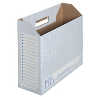 プラス ボックスファイル(エコノミータイプ) A4 ブルー 1パック(30冊入)