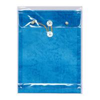 菅公工業 ビニールパッカー 角2(A4) ブルー ニ301 5枚