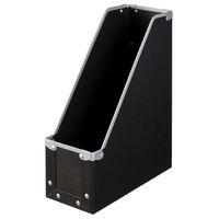 ボックスファイル A4タテ 6個 パルプボード ブラック アスクル