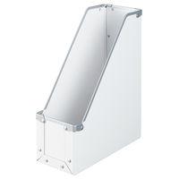 ボックスファイル A4タテ 6個 パルプボード ホワイト アスクル