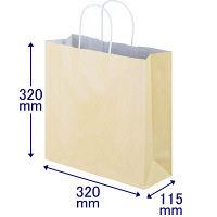手提げ紙袋 丸紐 パステルカラー イエロー M 1箱(300枚:50枚入×6袋) スーパーバッグ