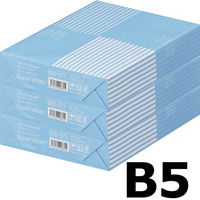 コピー用紙 マルチペーパー スーパーホワイト+ B5 1セット(1500枚:500枚入×3冊) 高白色 アスクル