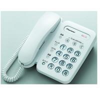 パイオニア 電話機 ベーシックテレホン TF-12-W 1台
