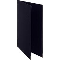 メニューファイル表紙 布貼り A4 10冊 アスクル 黒