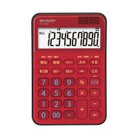シャープ SHARP 一般電卓 EL-M335-RX 赤 EL-M335-RX 1個