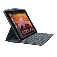 ロジクール(Logicool) iPad(第5世代/2017年モデル用)Bluetoothキーボード一体型ケース ブラック IK1052BK