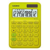 カシオ計算機 カラフル電卓 ライムグリーン MW-C20C-YG-N
