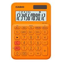 カシオ計算機 カラフル電卓 オレンジ MW-C20C-RG-N