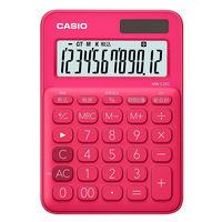 カシオ計算機 カラフル電卓 ビビットピンク MW-C20C-RD-N