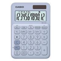カシオ計算機 カラフル電卓 ペールブルー MW-C20C-LB-N