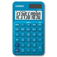 カシオ計算機 カラフル手帳電卓 レイクブルー SL-300C-BU-N