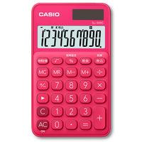 カシオ計算機 カラフル手帳電卓 ビビットピンク SL-300C-RD-N