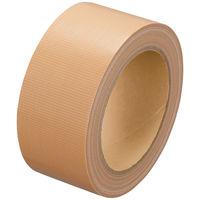 古藤工業「現場のチカラ」 Monf 手で切りやすい布テープ 0.18mm厚 幅50mm×長さ25m巻 黄土 1セット(10巻:1巻×10)