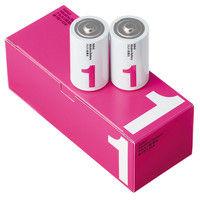 アスクル アルカリ乾電池 単1形 業務用パック 1ケース(100本)