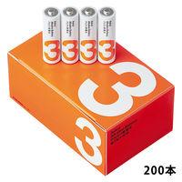 アスクル アルカリ乾電池 単3形 1ケース(200本)
