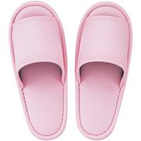 レザー風外縫いスリッパ M ピンク 1箱(20足入)