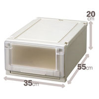 【衣装ケース】天馬 フィッツユニットケース3520(クローゼットサイズ) 1箱(4個入)