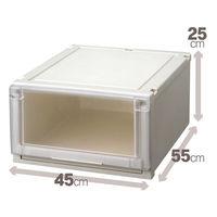 【衣装ケース】天馬 フィッツユニットケース4525(クローゼットサイズ) 1箱(4個入)