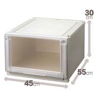 【衣装ケース】天馬 フィッツユニットケース4530(クローゼットサイズ) 1箱(3個入)