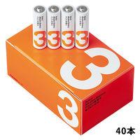 アルカリ単3乾電池 40本