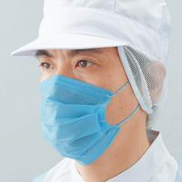 混入対策マスク ブルー 2層式 耳掛けタイプ No.2833 100枚入 リーブル