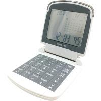 【アウトレット】アデッソ ワールドタイム8桁電卓付時計 16都市世界時計・アラーム・通貨換算・カウントダウン 1個 WT-200 ADESSO