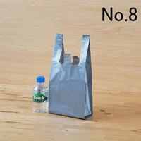 「現場のチカラ」レジ袋(シルバー) シルバー No.8 0.02mm厚 1袋(100枚入) アスクル