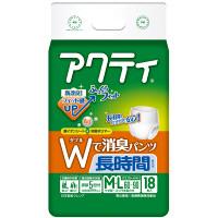 アクティ Wで消臭パンツ長時間タイプ M-L 1箱(72枚:18枚入×4パック) 日本製紙クレシア (取寄品)