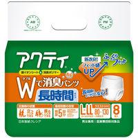 アクティ 大人用紙おむつ Wで消臭パンツ長時間タイプ LーLL 1箱(32枚:8枚入X4パック) 日本製紙クレシア (取寄品)