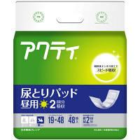 日本製紙クレシア アクティ尿とりパッド昼用2回分吸収 80460 1箱(192枚:48枚入×4パック) (取寄品)