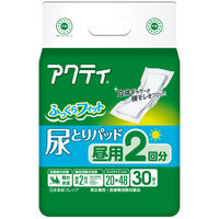 アクティ 尿とりパッド昼用2回分吸収 1箱(180枚:30枚入×6パック) 日本製紙クレシア (取寄品)