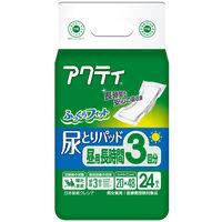 アクティ 尿とりパッド昼用・長時間3回分吸収 1箱(144枚:24枚入×6パック) 日本製紙クレシア (取寄品)