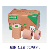 ニチバン バトルウィンテーピングテープ(伸縮タイプ) 25mm×4m(伸長時) E25 1箱(24巻入) (取寄品)
