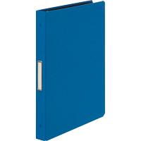 布貼りリングファイル 30穴 A4タテ 背幅34mm 3冊 アスクル ブルー