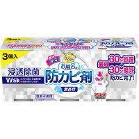 らくハピ お風呂の防カビ剤 無香料 1パック(3個入) 浴室用 アース製薬