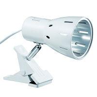 クリップライトホワイトE26電球なし 白 CLX60X02 ヤザワコーポレーション