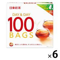 日東紅茶 デイ&デイ ティーバッグ 1セット(600バッグ:100バッグ入×6箱)