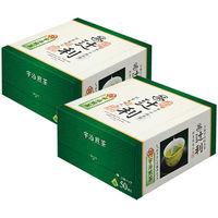 辻利 三角ティーバッグ 宇治煎茶 1セット(100バッグ:50バッグ入×2箱)