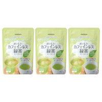 【水出し可】ハラダ製茶 カフェインレス緑茶インスタント 1セット(40g×3袋)
