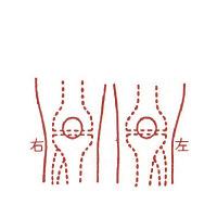 サンビー 人体図ゴム印 膝37 JING-37 (取寄品)