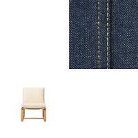 綿デニムLDソファチェア用カバー/ブルー